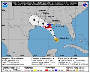Операторы прекращают добычу нефти и газа перед тропическими штормами.